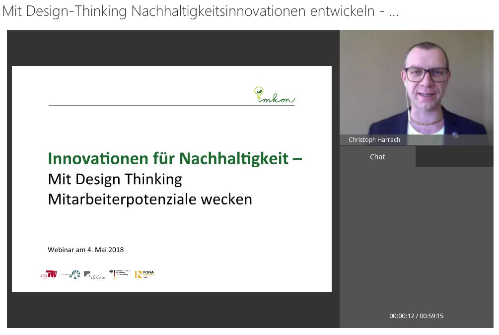 Video zum Webinar Design Thinking für Nachhaltigkeit online